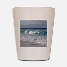 Waves on Friendly Beach Shot Glass