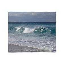 Waves on Friendly Beach Throw Blanket