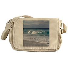 Waves on Friendly Beach Messenger Bag