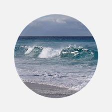 "Waves on Friendly Beach 3.5"" Button"