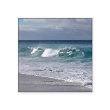 "Waves on Friendly Beach Square Sticker 3"" x 3"""