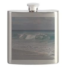 Waves on Friendly Beach Flask