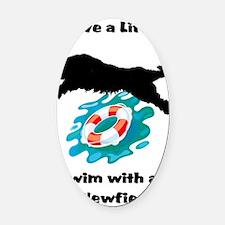 Save a Life Newfoundland Swim Oval Car Magnet