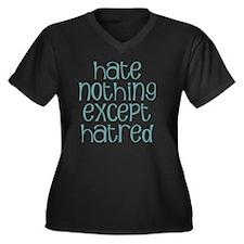 hatenot Women's Plus Size Dark V-Neck T-Shirt