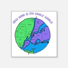 "new-york-planet Square Sticker 3"" x 3"""