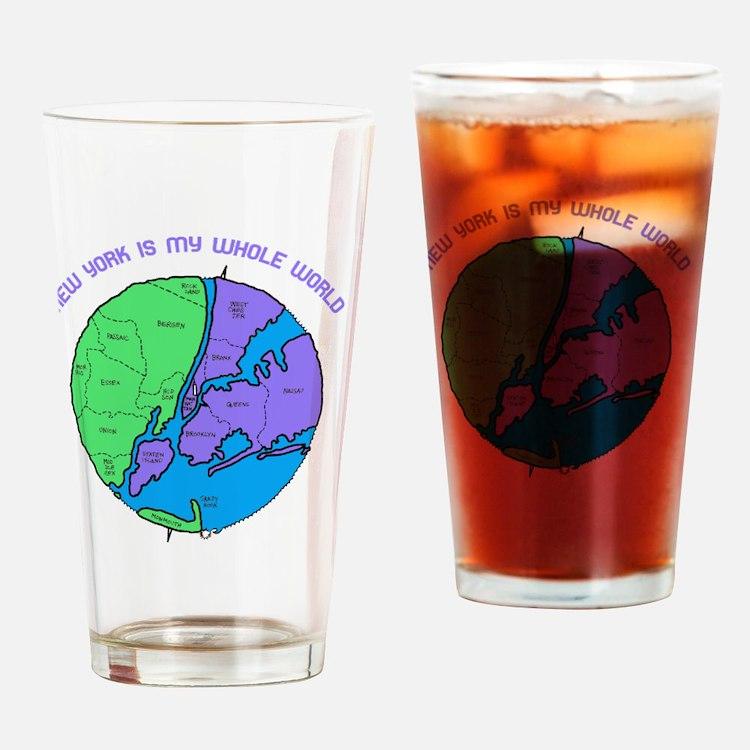 new-york-planet Drinking Glass