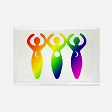 Three Goddesses Rectangle Magnet