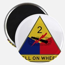 2nd Armored Division - Hell On Wheels Magnet