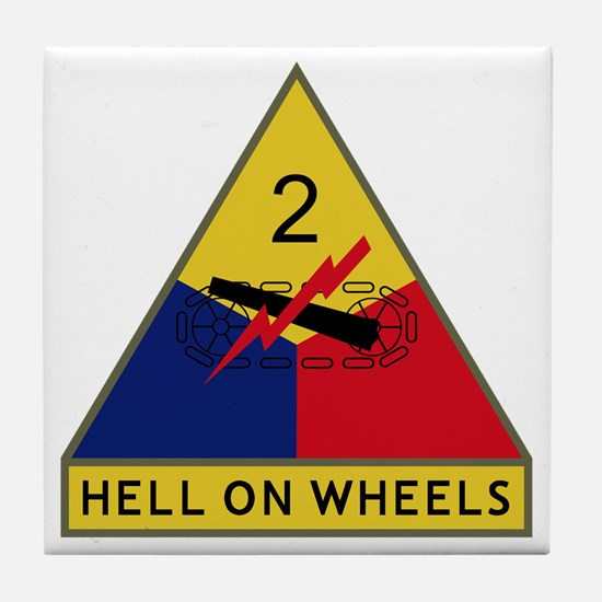 2nd Armored Division - Hell On Wheels Tile Coaster