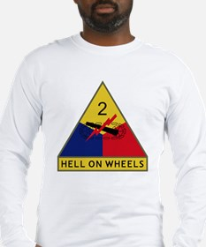 2nd Armored Division - Hell On Long Sleeve T-Shirt