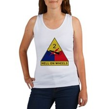 2nd Armored Division - Hell On Wh Women's Tank Top