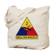 2nd Armored Division - Hell On Wheels Tote Bag