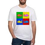 Pop Art Rabbit Fitted T-Shirt