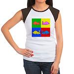 Pop Art Rabbit Women's Cap Sleeve T-Shirt