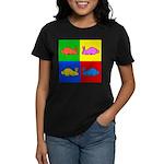 Pop Art Rabbit Women's Dark T-Shirt