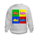 Pop Art Rabbit Kids Sweatshirt