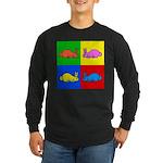 Pop Art Rabbit Long Sleeve Dark T-Shirt