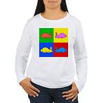 Pop Art Rabbit Women's Long Sleeve T-Shirt
