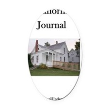 4-Journal Cover Oval Car Magnet