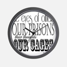 the eyes of others our prisons Wall Clock