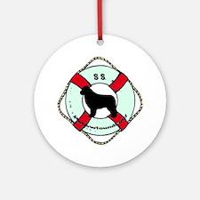 SS Newfoundland Dog Round Ornament
