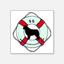 """SS Newfoundland Dog Square Sticker 3"""" x 3"""""""
