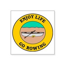 "rowing3 Square Sticker 3"" x 3"""