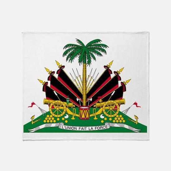 haiti flag copy Throw Blanket