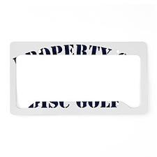 PropertyOfDiscGolf License Plate Holder