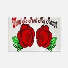 pick roses Rectangle Magnet