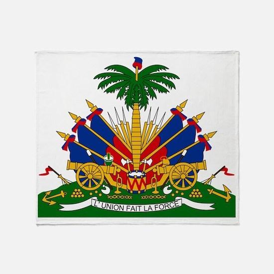 2000px-Coat_of_arms_of_Haiti copy Throw Blanket