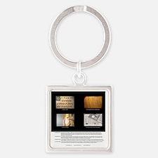 vert_cal_01_jan Square Keychain
