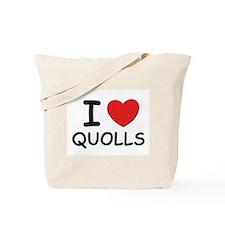 I love quolls Tote Bag