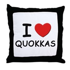 I love quokkas Throw Pillow