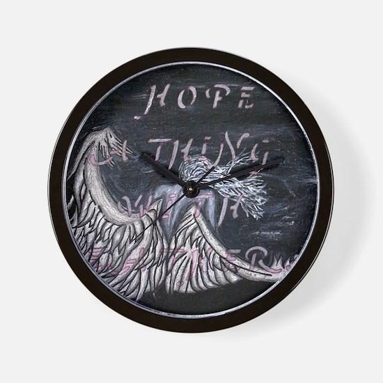 Crying Angel Hope Wall Clock