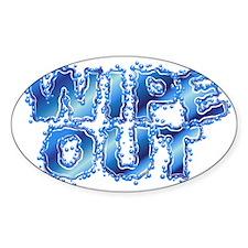 WO-word_crop Sticker (Oval)