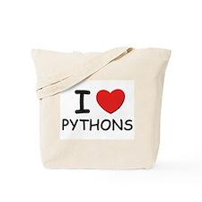 I love pythons Tote Bag