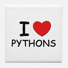 I love pythons Tile Coaster