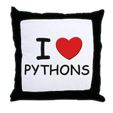 I love pythons Throw Pillow