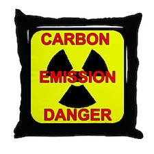 DANGER-CARBON-EMISSIONS Throw Pillow