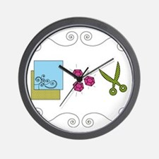 paperrockscissors Wall Clock
