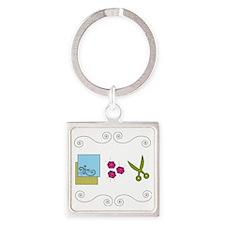 paperrockscissors Square Keychain