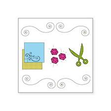 "paperrockscissors Square Sticker 3"" x 3"""