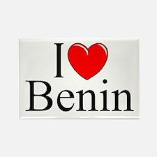 """""""I Love Benin"""" Rectangle Magnet"""