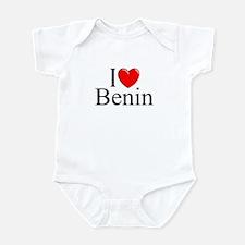 """""""I Love Benin"""" Infant Bodysuit"""