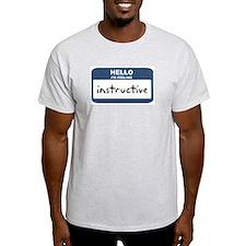 Feeling instructive Ash Grey T-Shirt
