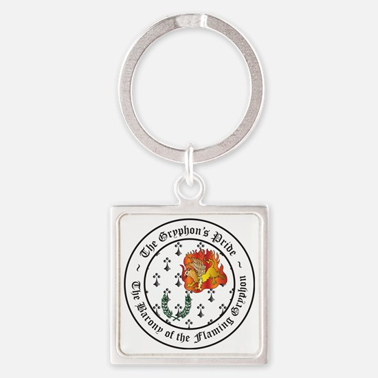 Gryphons Pride Populace Square Keychain