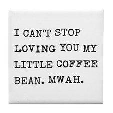 Love letter to coffee bean Tile Coaster