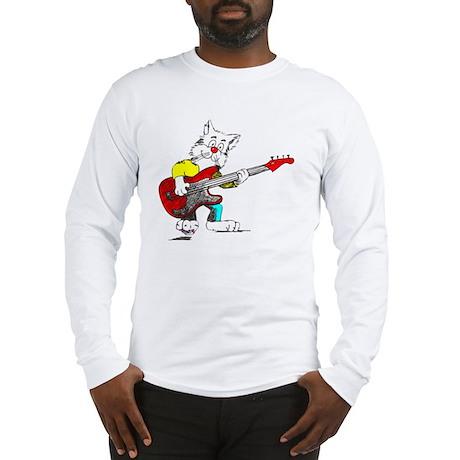 Bass Guitar Cat for Dark Appar Long Sleeve T-Shirt