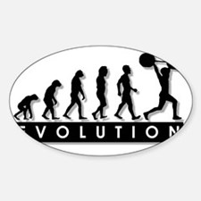 evolution-weightlifting Sticker (Oval)